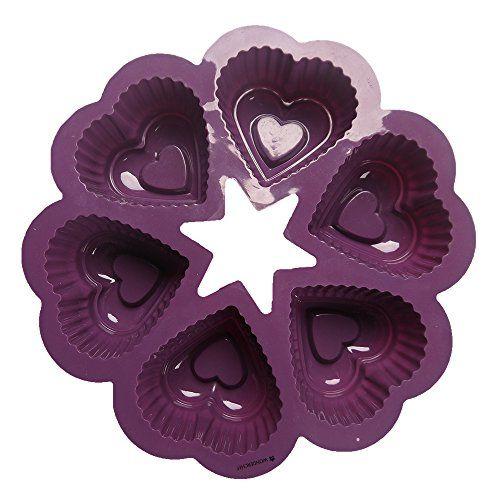 Wonderchef Silicone Heart Mould, Purple