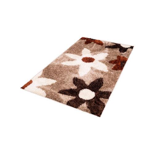 Story@home Brown Floral Printed Carpet