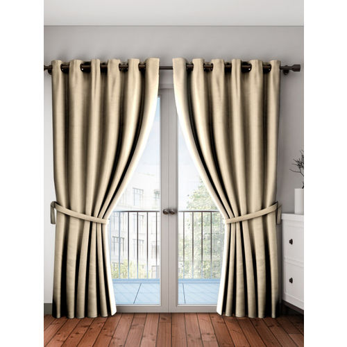 Story@home Beige Black Out Door Curtains