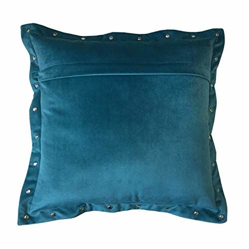 Lushomes Smooth Velvet Cushion Covers with Some Metallic Oomph (Single Pc, 16 x 16)