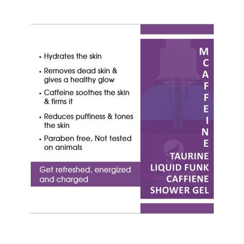 MCaffeine Unisex Caffeine Shower Gel with Taurine and Vitamin E - Paraben Free 150 ml