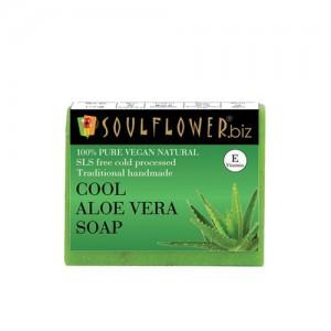 Soulflower Unisex Cool Aloe Vera Soap