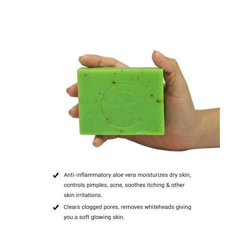 Soulflower Unisex Cool Aloe Vera Soap