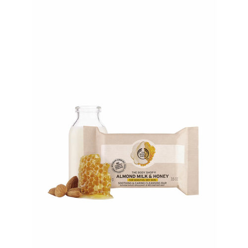 The Body Shop Almond Milk & Honey Soothing & Caring Cleansing Bar 100 g