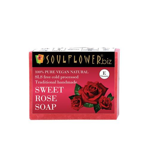Soulflower Sweet Rose Unisex Soap