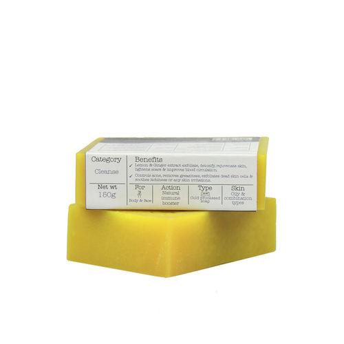 Soulflower Unisex Lemon Ginger Unisex Soap