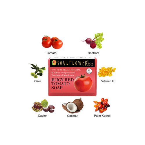 Soulflower Unisex Juicy Red Tomato Soap Soap