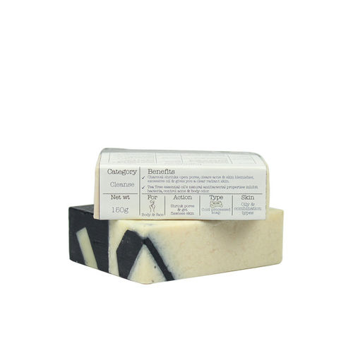 Soulflower Unisex Deodorizing Charcoal Soap