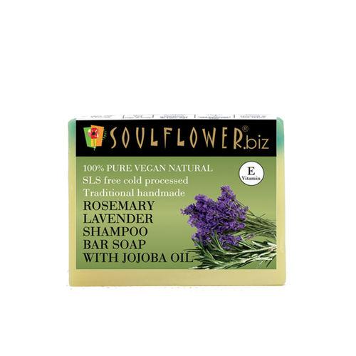 Soulflower Rosemary Lavender Shampoo Bar with Jojoba Oil