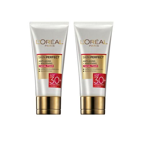 LOreal Unisex Anti-Aging Plus Whitening Facial Foam 50 g each