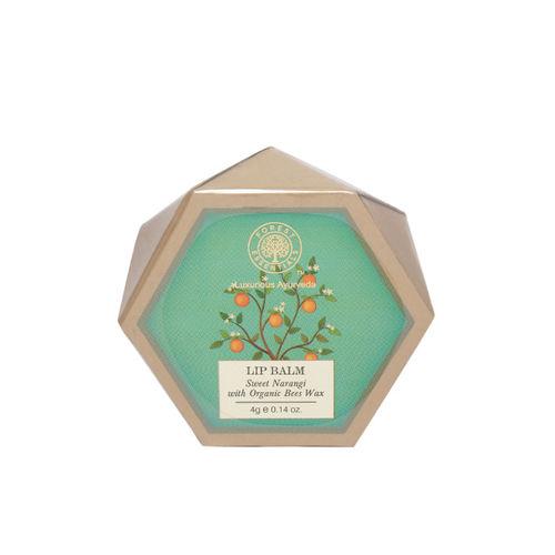 Forest Essentials Unisex Sweet Narangi Lip Balm with Organic Bees Wax