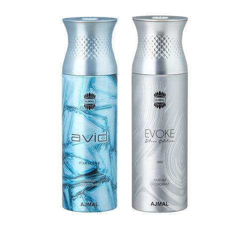 Ajmal Men Pack of 2 Avid & EvokeSilverHim Deodorants 200 ml