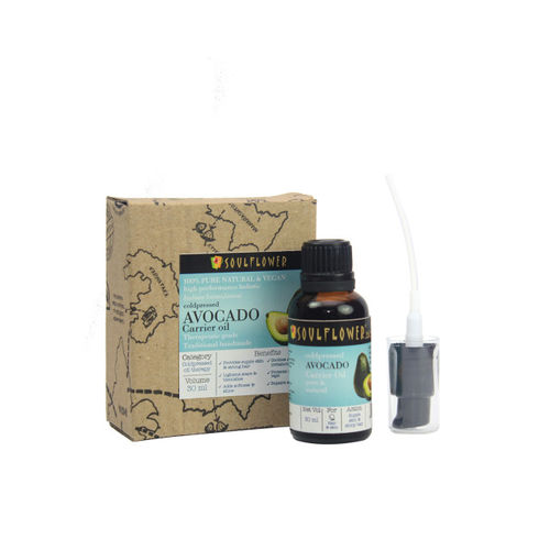 Soulflower Cold Pressed Avocado Oil Essential Oil