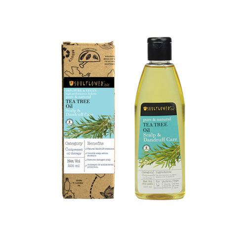 Soulflower Tea Tree Scalp and Anti Dandruff Hair Oil