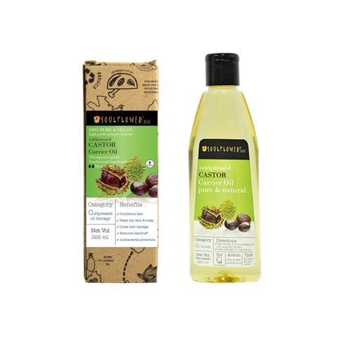 Soulflower Castor Oil Premium Cold Pressed Hair and Body Oil