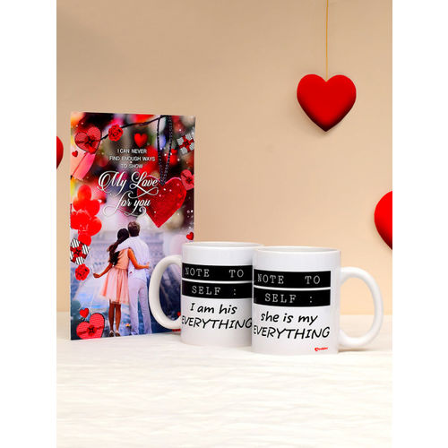 Archies 1st Valentines Day Special Set of 2 Ceramic Mugs & Greeting Card Gift Combo