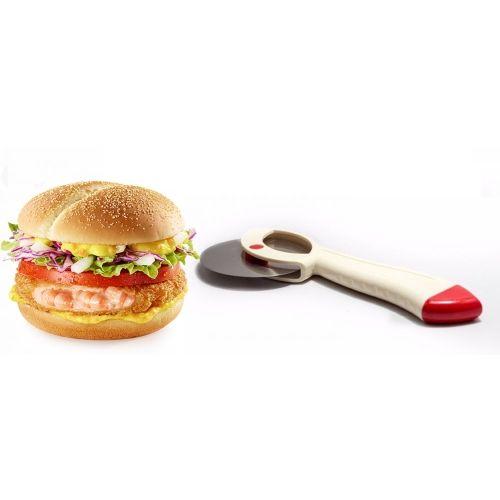 Kuber Industries Pizza/Sandwich/Burger/Slicer/Multipurpose Cutter set of 1 Pcs (Code-PZ03) Wheel Pizza Cutter