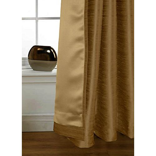 Lushomes Coffee Twinkle Star Curtain with Blackout Lining for Doors