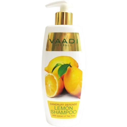 Vaadi Herbals Dandruff Defense Lemon Shampoo with Extract of Tea Tree