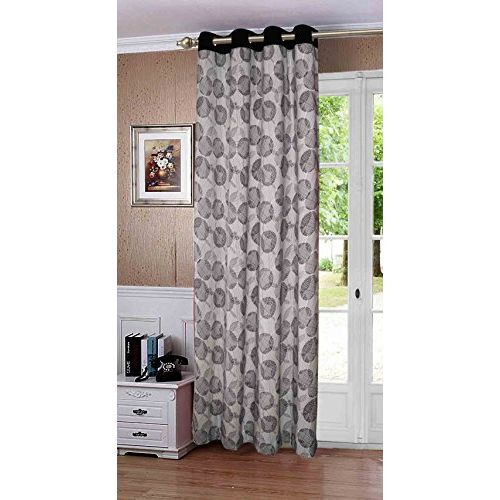 Lushomes Geometric Printed Cotton Curtains for Long Door (Single Pc)
