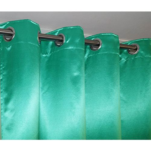 Lushomes Sea Green Contemporary Premium Plain Door Curtain with 8 Metal Eyelets (54 x 90)-Torantina, Single pc