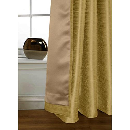 Lushomes Polyester Strong Ground Twinkle Star Curtain with Blackout Lining for Doors (Beige, 7.5x4.5 ft)