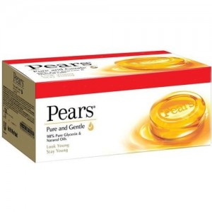 Pears Pure & Gentle Bathing Bar  (500 g, Pack of 4)
