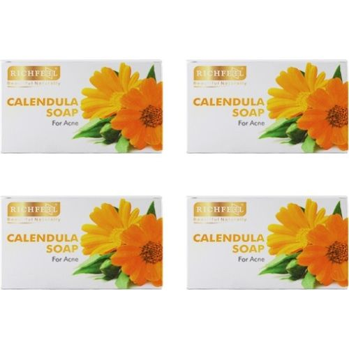 Richfeel Calendula Soap for Acne (Pack of 4)