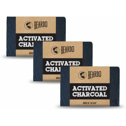 Beardo ACTIVATED CHARCOAL Brick Soap - 125g (Set of 3)