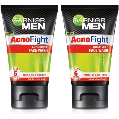Garnier Men Acno Fight Anti-Pimple Face Wash (Pack of 2) Face Wash