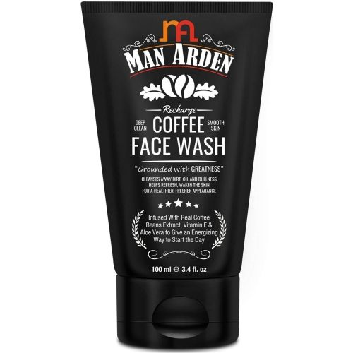 Man Arden Recharge Coffee Face Wash 100ml - Cleanses Away Dirt, Oil and Dullness Face Wash