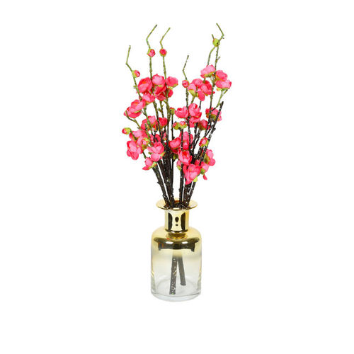 Aapno Rajasthan Gold Glass Flower Vase