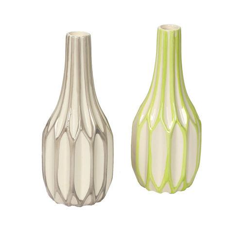 Aapno Rajasthan Set of 2 Multicoloured Ceramic Flower Vase