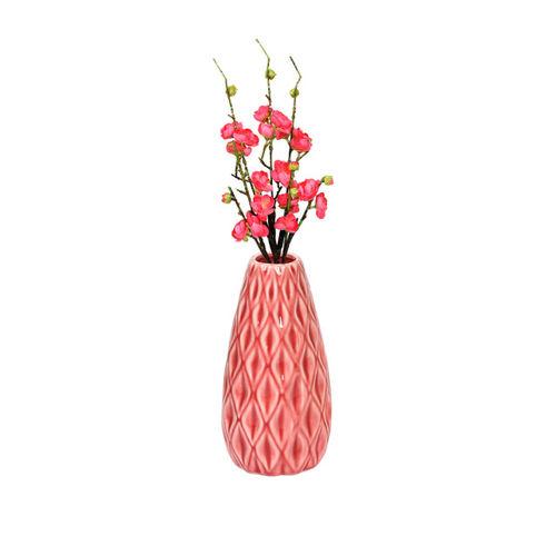 Aapno Rajasthan Peach-Coloured Ceramic Flower Vase