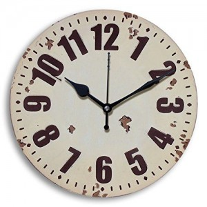 Random 'Perfect' Round Wooden Wall Clock (30.48 cm x 30.48 cm x 5.08 cm)
