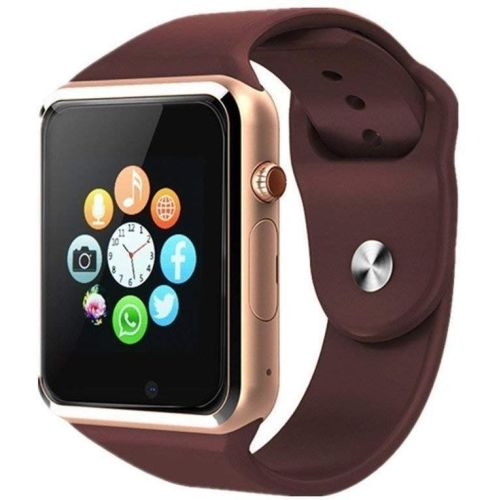 MUSTTALK Bluetooth Fitness Gold Smartwatch