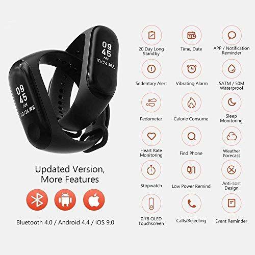 HOLME'S Activity Tracker/Bracelet Watch for Men/Fitness Watch for Women/Fitness Watch for Men/Health Watch/Health Band/Health Band & Activity Tracker/Wrist