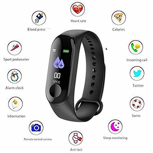 Rewy Black Unisex Solid Fitness Bands