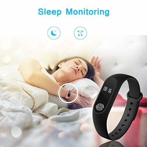 Bingo Himtronics M2 Waterproof Smart Fitness Band (Black