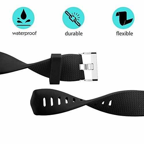 V. Enterprises VEnterprises Replacement Wristband Strap Silicon Band for Fit Bit Charge 2 / Charge 2 HR