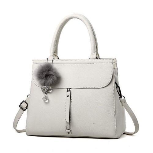Vius Grey Synthetic Stylish Casual Handbag Cross Body Bag