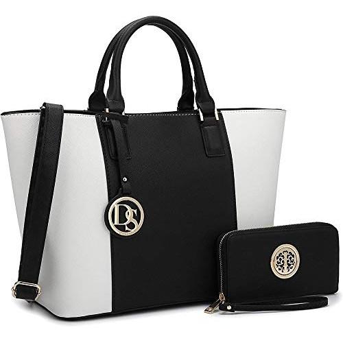 Vintage Black & White Synthetic Stylish Ladies Handbag-Sling Bag
