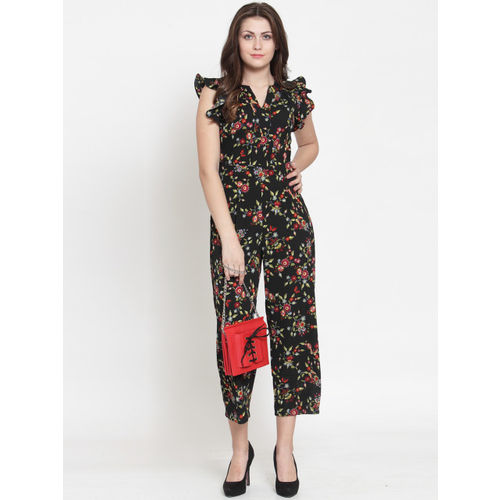 Magnetic Designs Women Black & Red Printed Culotte Jumpsuit