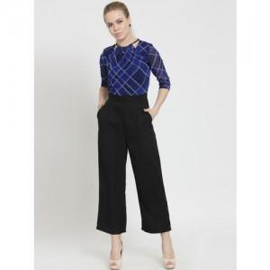 645bd8408df Magnetic Designs Black   Blue Checked Culotte Jumpsuit