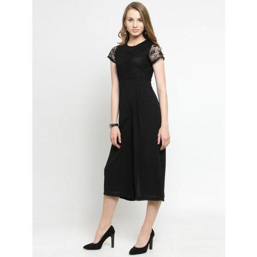 24f0de488f Buy Magnetic Designs Black Solid Culotte Jumpsuit online | Looksgud.in