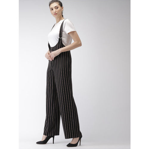 eb6a9224cec Buy FOREVER 21 Black   Maroon Striped Basic Jumpsuit online ...