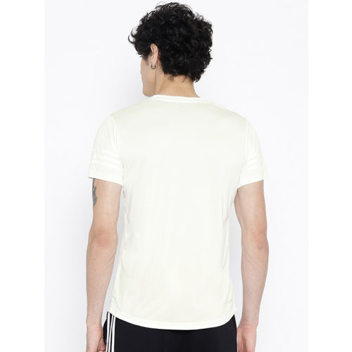 Adidas White Freelift Climacool Self-Striped Training T-shirt