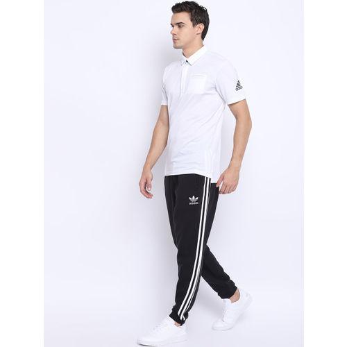 Adidas Men White Barricade Pocket Polo Solid Tennis T-shirt