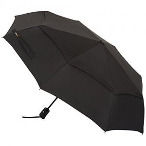 AmazonBasics Automatic Travel Umbrella with Wind Vent (Black)