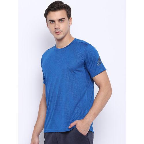 Adidas Men Blue Freelift Aero Printed Training T-shirt